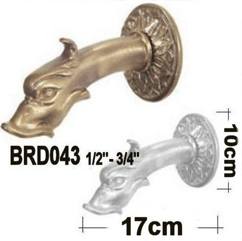 2 1 Ornamental Bronze Finished Brass Fountain Spouts