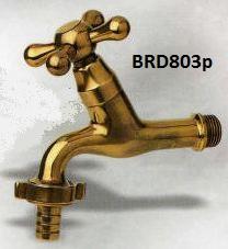 LEFT: BRD803p 1/2   Decorative Brass Tap Specs: Garden And Indoor, Brass  Tap With Hose Bib Connector.